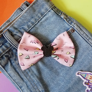 The 90's Pink Disney Inspired Glitter Fabric Bow
