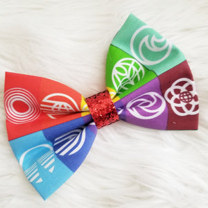 EPCOT Logo Inspired Disney Fabric Hair Bow