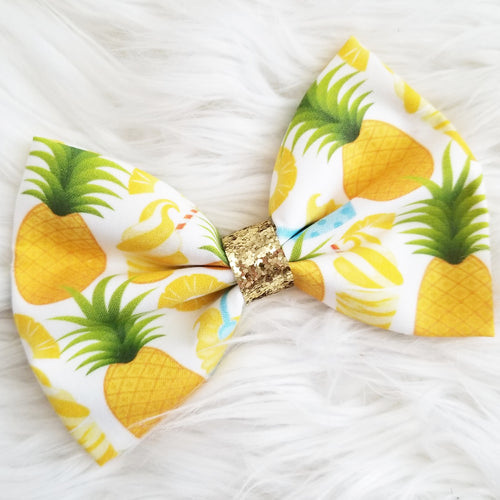 Dole Whip Float Snack Inspired Disney Fabric Hair Bow