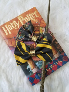 Hogwarts Hybrid Multi House Harry Potter Inspired Glitter Fabric Bow