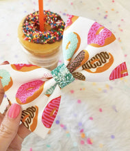 Donuts Please // Disney Park Inspired Donut Snack Bow with Glitter