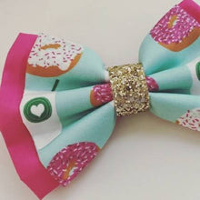 Snacks Collection// Starbucks and Donuts Please // Disney Park Inspired Donut Snack Bow with Glitter