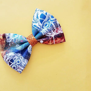 Guardians of the Galaxy Star Lord Inspired Disney Fabric Glitter Hair Bow