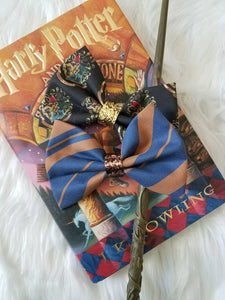 Hogwarts Back To School // Sorting Hat Set  Harry Potter Glitter Fabric Hair Bow