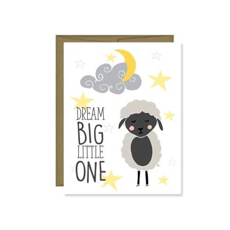 Dream Big Little One Baby Shower Card