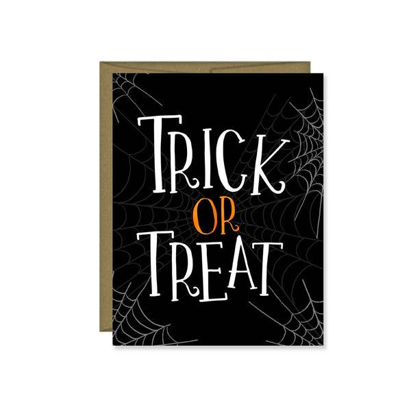 Trick or Treat Halloween Card, Fall, Greeting Card