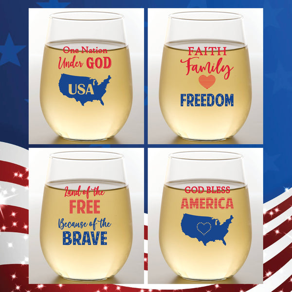 AMERICA Shatterproof Wine Glasses