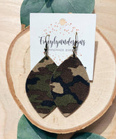 Camo Statement Earrings