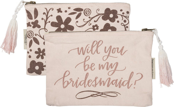 Bridesmaid Zipper Pouch