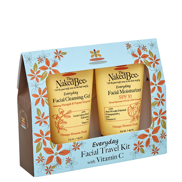 The Naked Bee Everyday Facial Travel Kit with Vitamin C