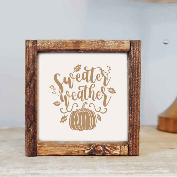 Sweater Weather Framed Sign