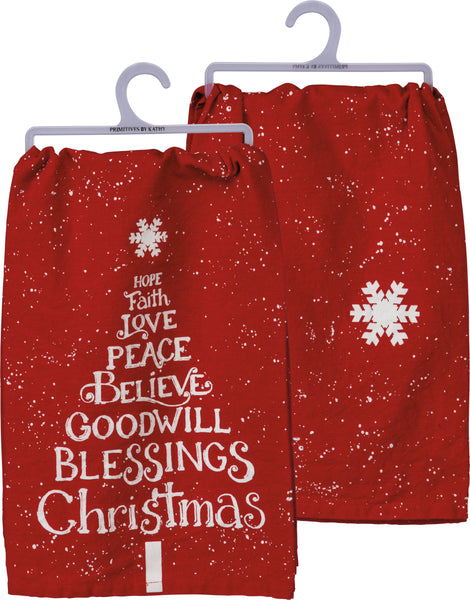 Christmas Blessings Dish Towel