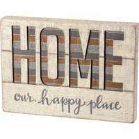 Home Our Happy Place Sign