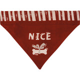 Naughty or Nice Pet Bandana