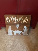 O Holy Night Box Sign