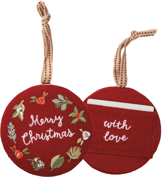Merry Christmas with Love Ornament