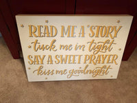 Read a Story, Say a Prayer Box Sign