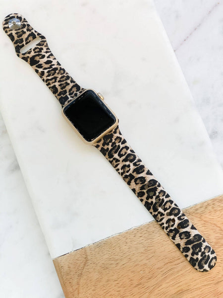 Jaguar Print Silicone Smart Watch Band - Neutral