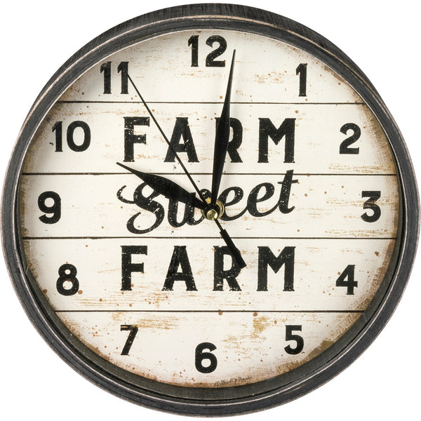 Farm Sweet Farm Clock