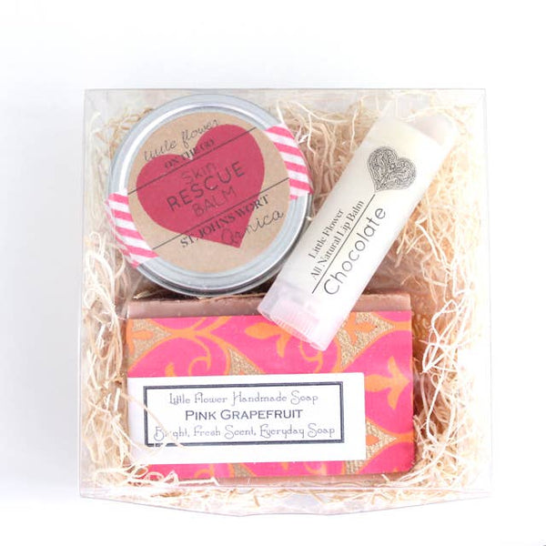 Valentines Day Medium Spa Set -- The Little Flower Soap Co.