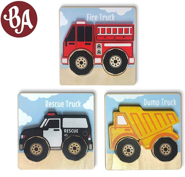 Chunky 5 piece puzzle - Trucks