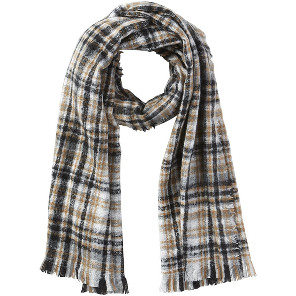 Neutral Dean Plaid Scarf