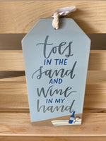 Wine Bottle Tag ~ Toes in the Sand