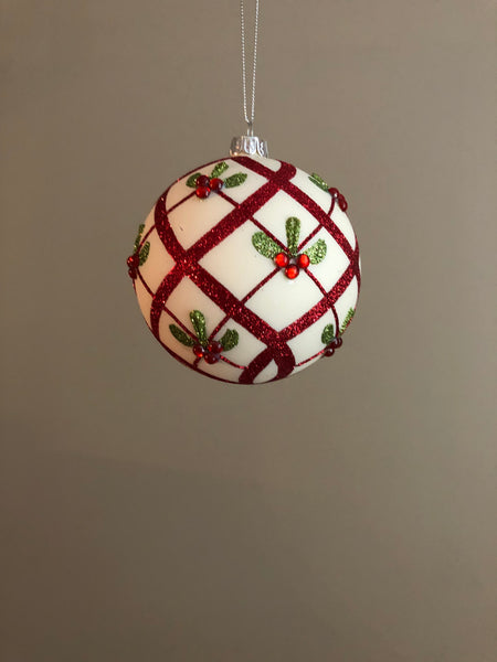 Holly Berry Christmas Ornaments