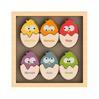 Color N Eggs Bilingual Puzzle