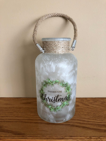Farmhouse Christmas Jar