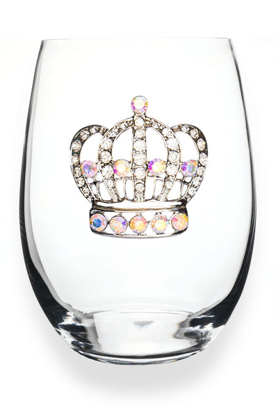The Queens Jewels — Aurora Borealis Crown Stemless Wine Glass