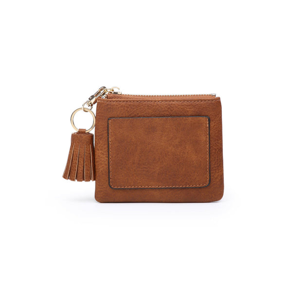 Tassel ID/card holder ~ Vegan Leather