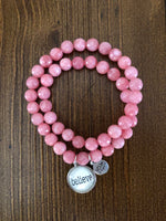 Never Lose Hope Designs Double-Strand Beaded Sentiment Bracelet