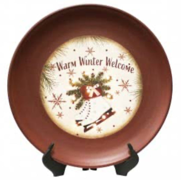Warm Winter Welcome Plate