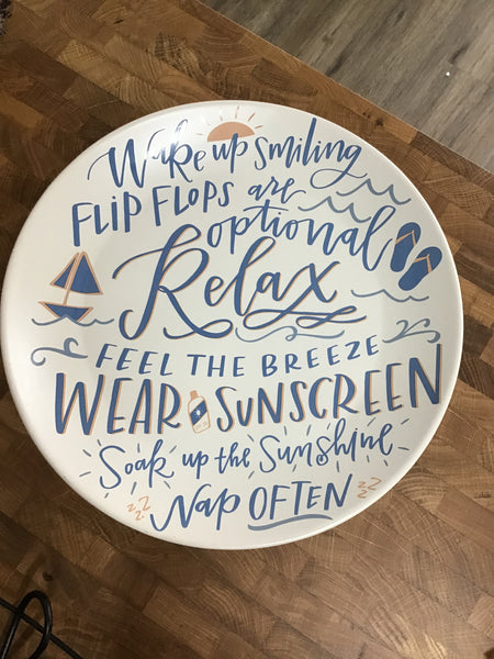 Wake Up Smiling Plate