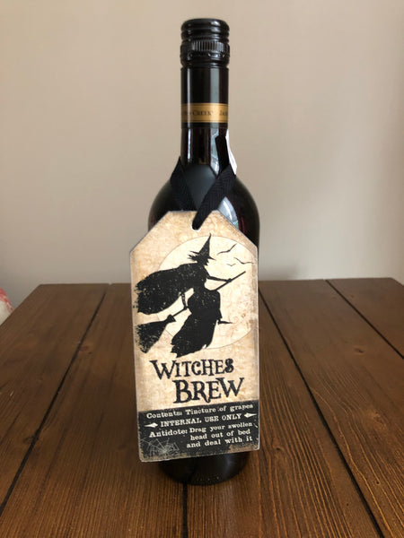 Halloween Wine Bottle Tag