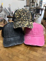 C.C. Distressed Pony Caps