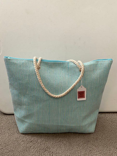 Shimmer Stripe Beach Bag