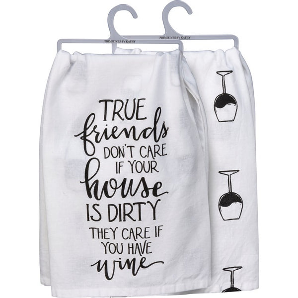 Dish Towel True Friends Wine