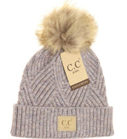 C.C. Beanie Diagonal Pattern Youth Hat