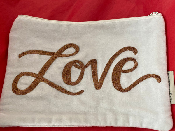 """Love"" Zipper Pouch"