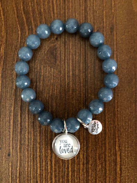 Never Lose Hope Designs Beaded Sentiment Bracelet