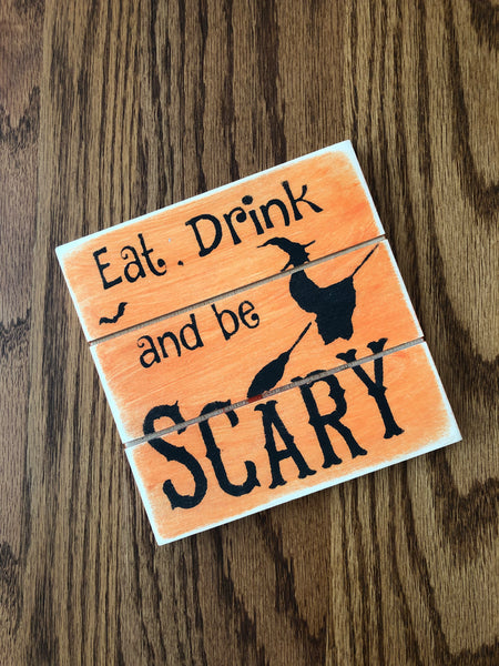 Halloween Wood Sign