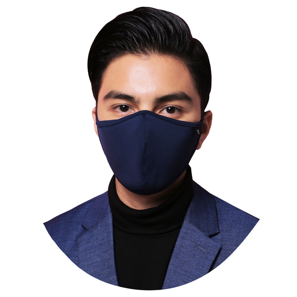 Ashh&Annas® Face Mask in Blue (Tie-Back)