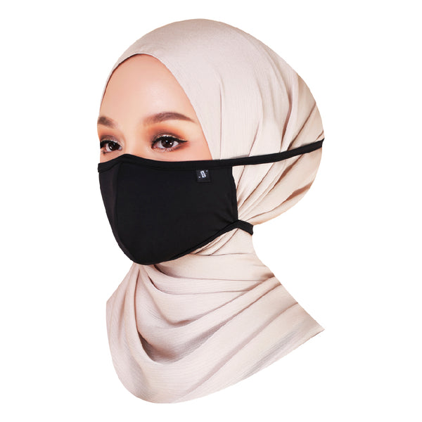 Ashh&Annas® Face Mask in Black (Tie-Back)