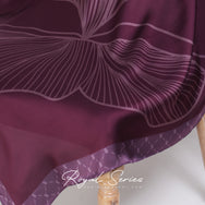 Royal Series in Raspberry Mixed Satin Silk (Square)