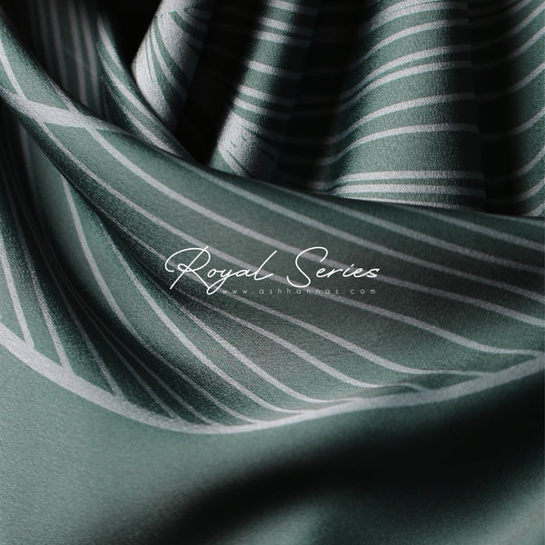 Royal Series in Emerald Green Mixed Satin Silk (Square)