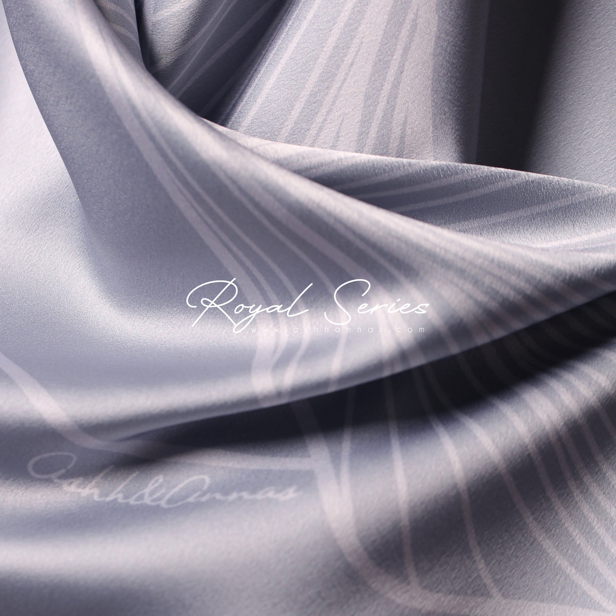Royal Series in Crystal Mixed Satin Silk (Square)