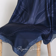 Royal Series in Midnight Blue Matte Mixed Satin Silk (Square)