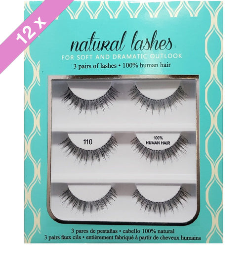 Amazing Shine eyelashes Trio # 110 (12 Pack)